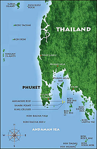 Phuket Thailand Dive Sites